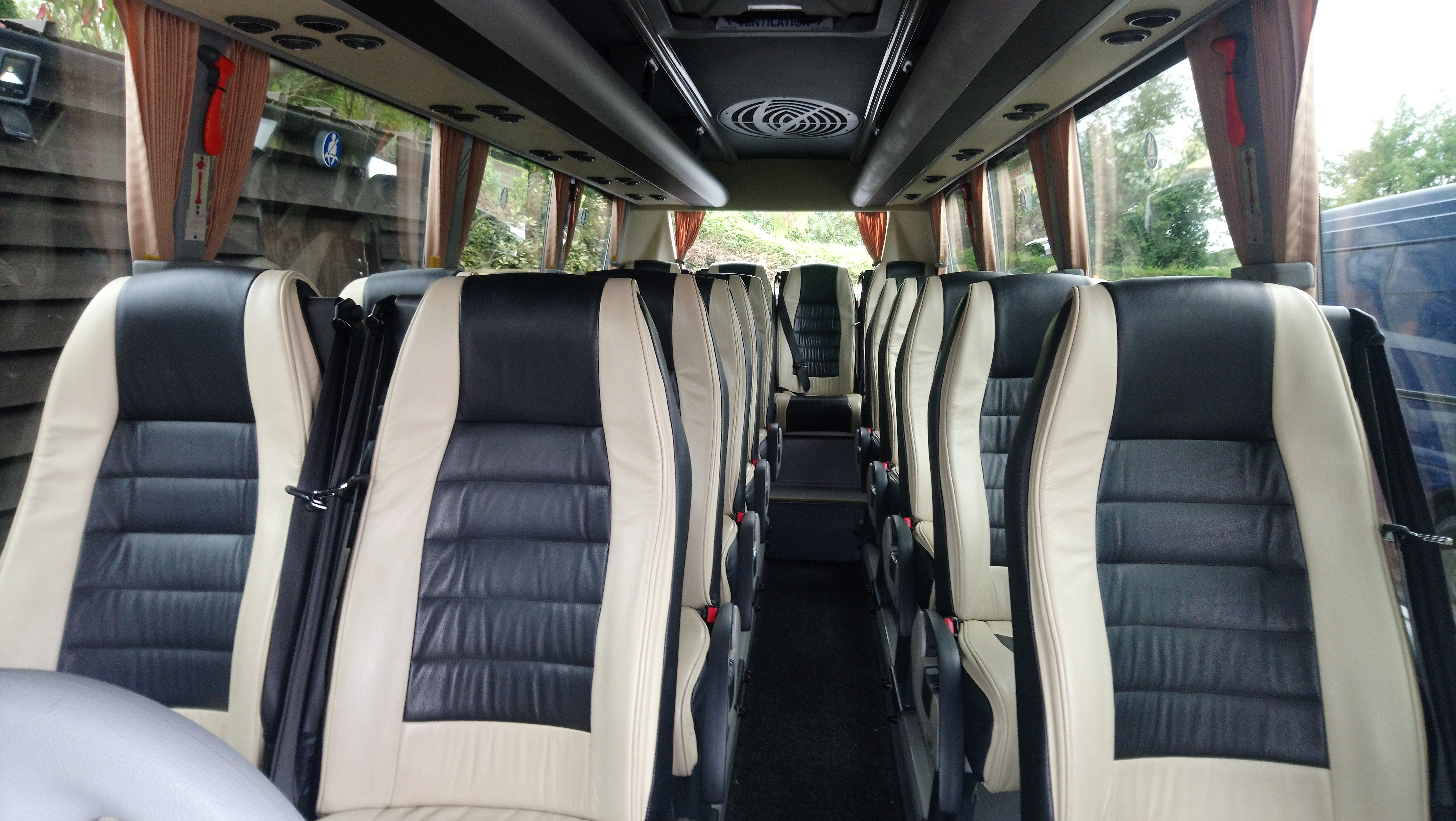 Holt's 19 seater coach with leather seats